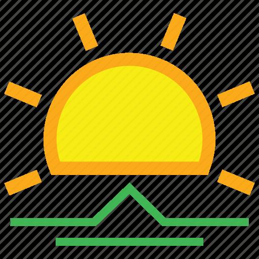 day, forecast, morning, sun, sunny, sunrise icon