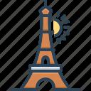eiffel, europe, france, paris, tower