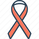 aids, cancer or other, disease, long illness, ribbon, sickness, syndrome