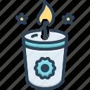candle, candlestick, cimmerian, lobworm, melt, soy candle, wax