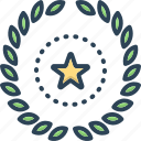 branch, decoration, frame, leaves, victory, wreath