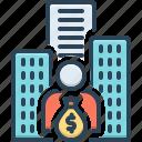 stockholder, investor, banker, shareholder, loaner, lender, depositor icon