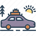 furlough, holiday, leave, leisure, sojourn, tour, vacation icon