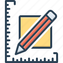 dimension, distances, measuring, ruler, scale, yard, yardage icon