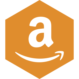 amazon, hexagon, media, social icon