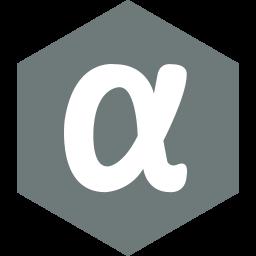 app, hexagon, media, net, social icon