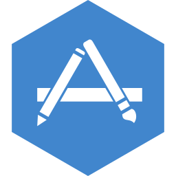 app, hexagon, media, social, store icon