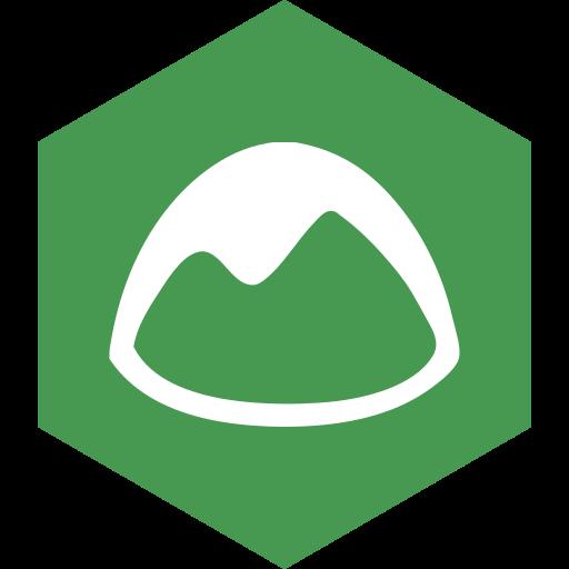 basecamp, hexagon, media, social icon