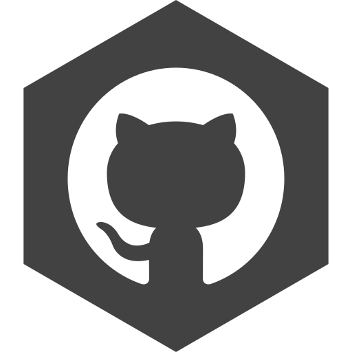 github, hexagon, media, social icon