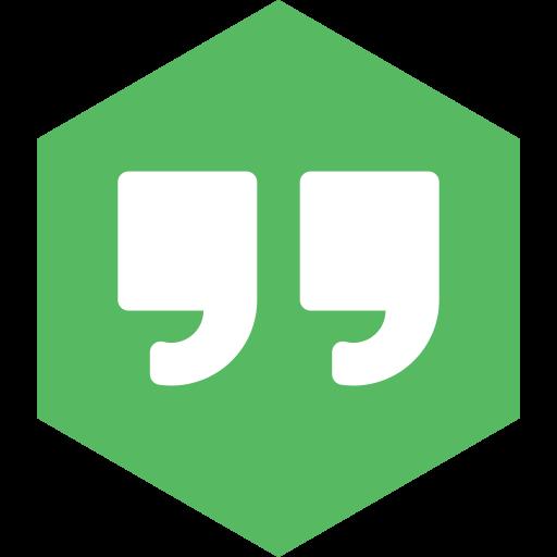 hangouts, hexagon, media, social icon