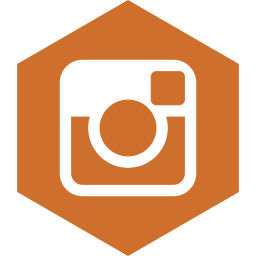 hexagon, instagram, media, social icon