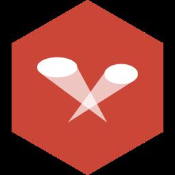 hexagon, limelight, media, social icon