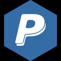 hexagon, media, paypal, social icon