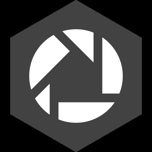 hexagon, media, picasa, social icon