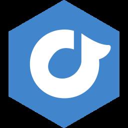 hexagon, media, rdio, social icon
