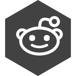 hexagon, media, reddit, social icon