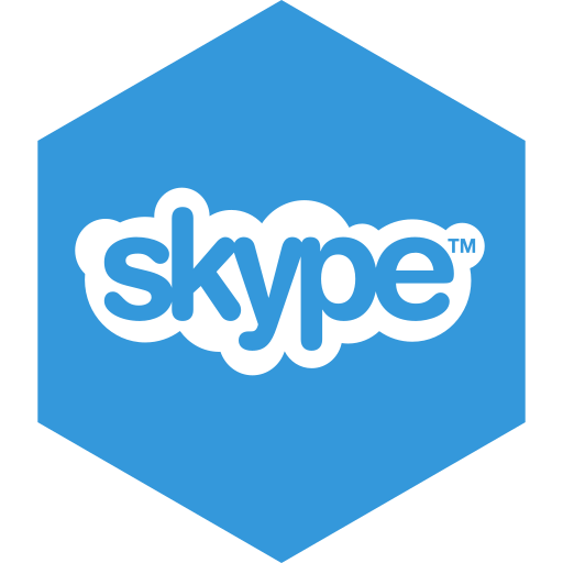 hexagon, media, skype, social icon