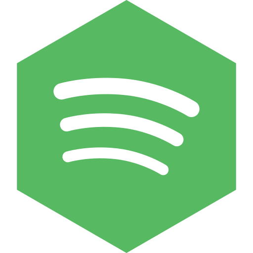 hexagon, media, social, spotify icon