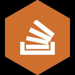 hexagon, media, social, stackoverflow icon
