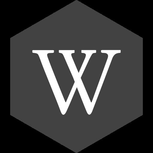 hexagon, media, social, wikipedia icon