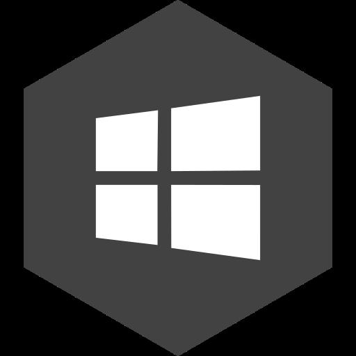 hexagon, media, social, store, window icon