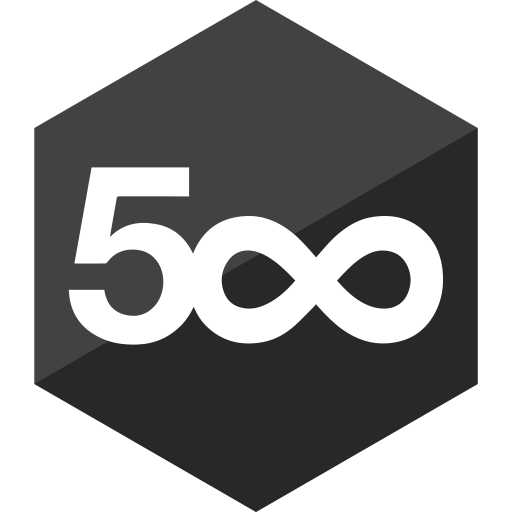 500, gloss, hexagon, media, pixel, social icon