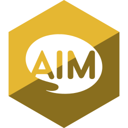 aim, gloss, hexagon, media, social icon