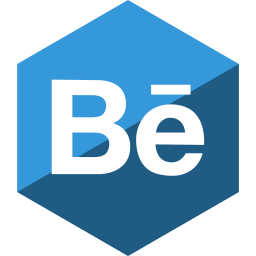 behance, gloss, hexagon, media, social icon
