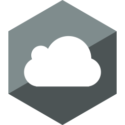cloud, gloss, hexagon, media, social icon