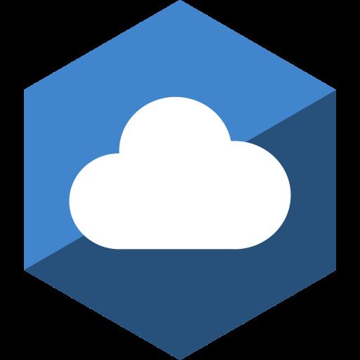 cloudapp, gloss, hexagon, media, social icon