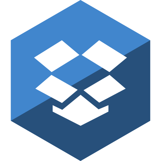 dropbox, gloss, hexagon, media, social icon