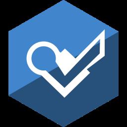 foursquare, gloss, hexagon, media, social icon