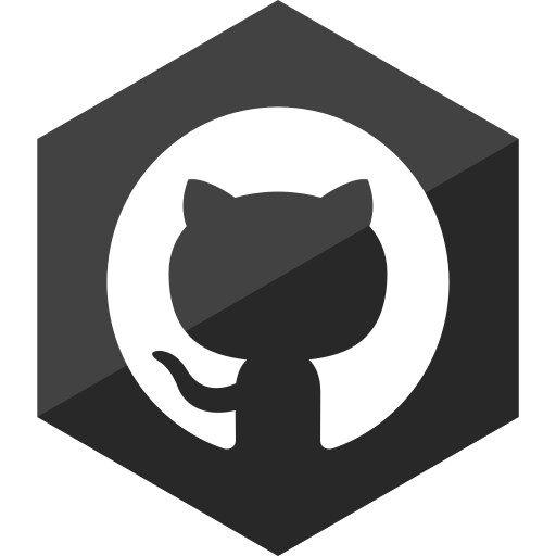 github, gloss, hexagon, media, social icon