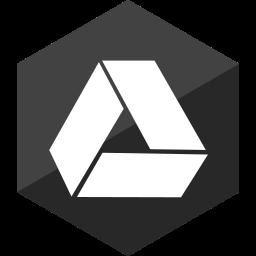 drive, gloss, google, hexagon, media, social icon