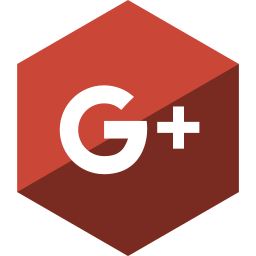 gloss, google, hexagon, media, plus, social icon