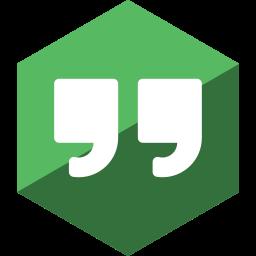 gloss, hangouts, hexagon, media, social icon