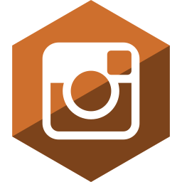 gloss, hexagon, instagram, media, social icon