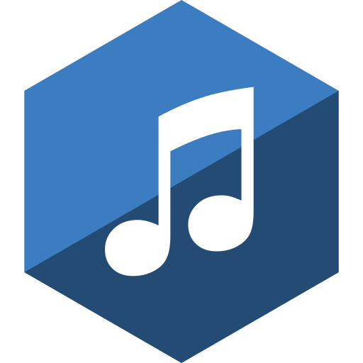 gloss, hexagon, itunes, media, social icon
