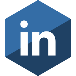 gloss, hexagon, linkedin, media, social icon