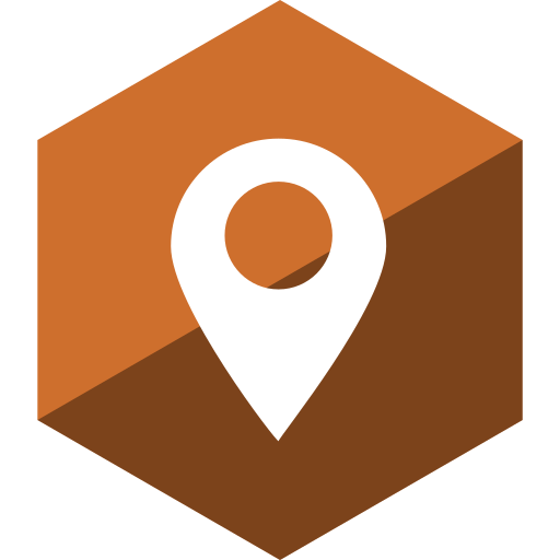 gloss, hexagon, location, media, social icon