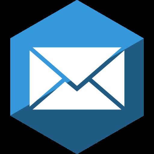 gloss, hexagon, mail, media, social icon