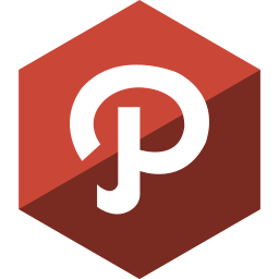gloss, hexagon, media, path, social icon