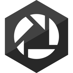 gloss, hexagon, media, picasa, social icon