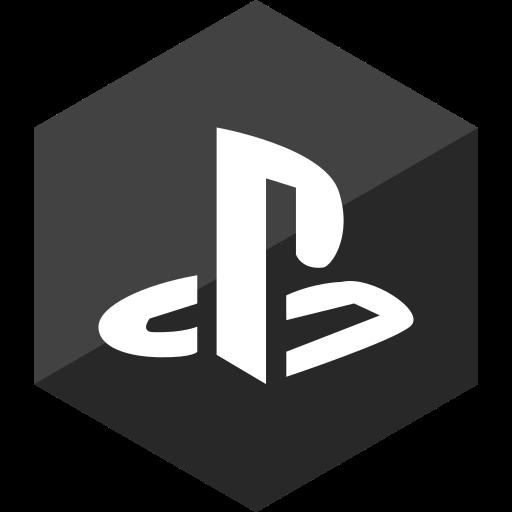 gloss, hexagon, media, playstation, social icon