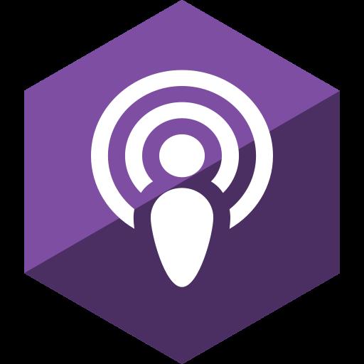 gloss, hexagon, media, podcast, social icon