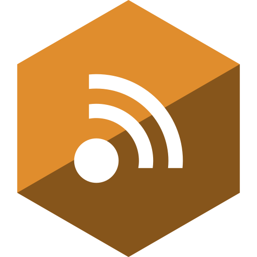 gloss, hexagon, media, rss, social icon