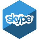 gloss, hexagon, media, skype, social icon