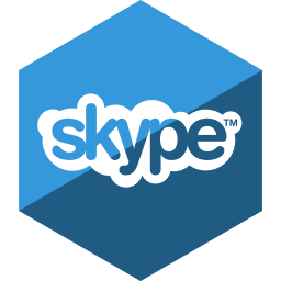gloss, hexagon, media, skype, social icon
