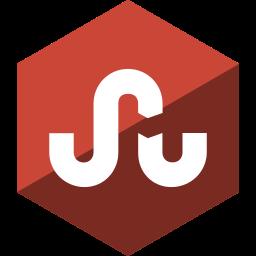 gloss, hexagon, media, social, stumbleupon icon