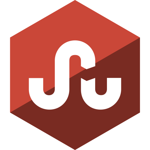 gloss, hexagon, media, social, stumbleupon icon